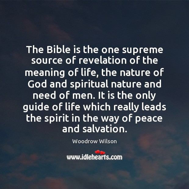 Image, The Bible is the one supreme source of revelation of the meaning