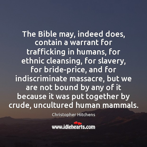The Bible may, indeed does, contain a warrant for trafficking in humans, Image