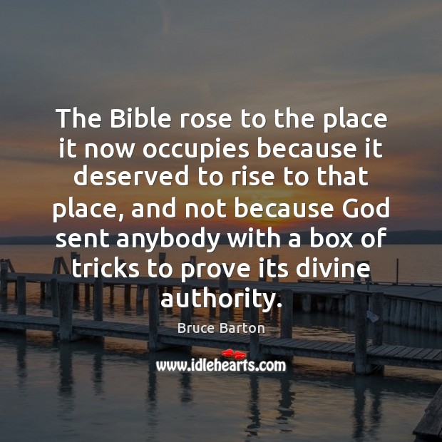 Image, The Bible rose to the place it now occupies because it deserved