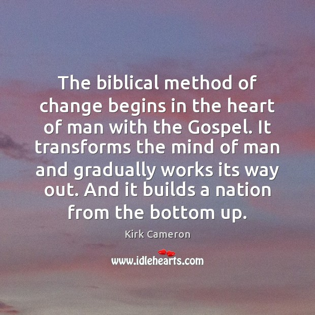 The biblical method of change begins in the heart of man with Image