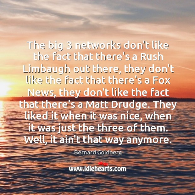 Image, The big 3 networks don't like the fact that there's a Rush Limbaugh