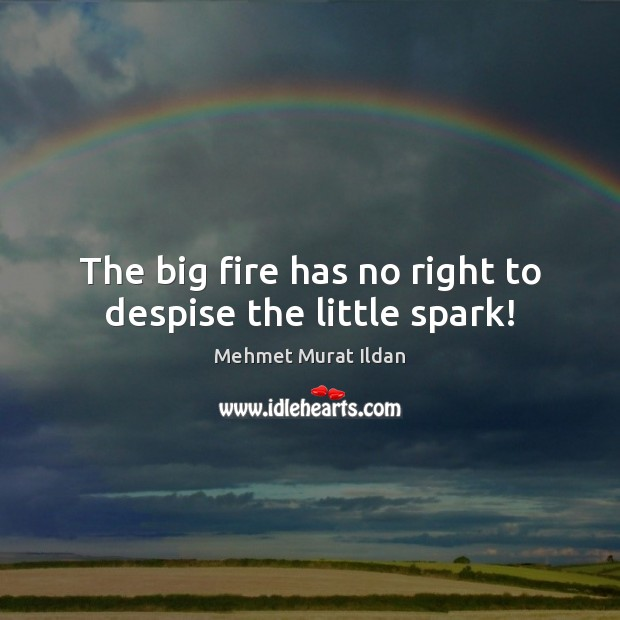 Image, The big fire has no right to despise the little spark!