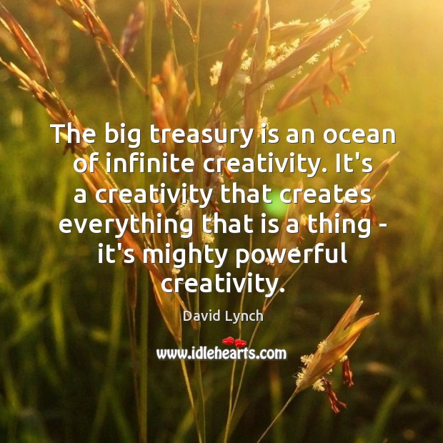 Image, The big treasury is an ocean of infinite creativity. It's a creativity