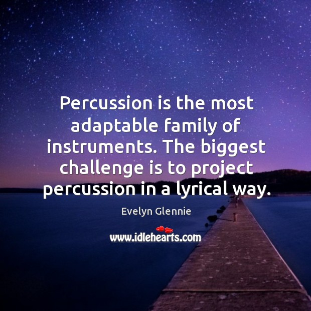 Image, The biggest challenge is to project percussion in a lyrical way.