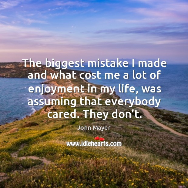 Image, The biggest mistake I made and what cost me a lot of