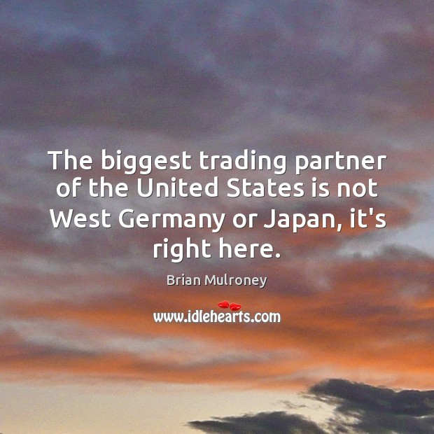 The biggest trading partner of the United States is not West Germany Image