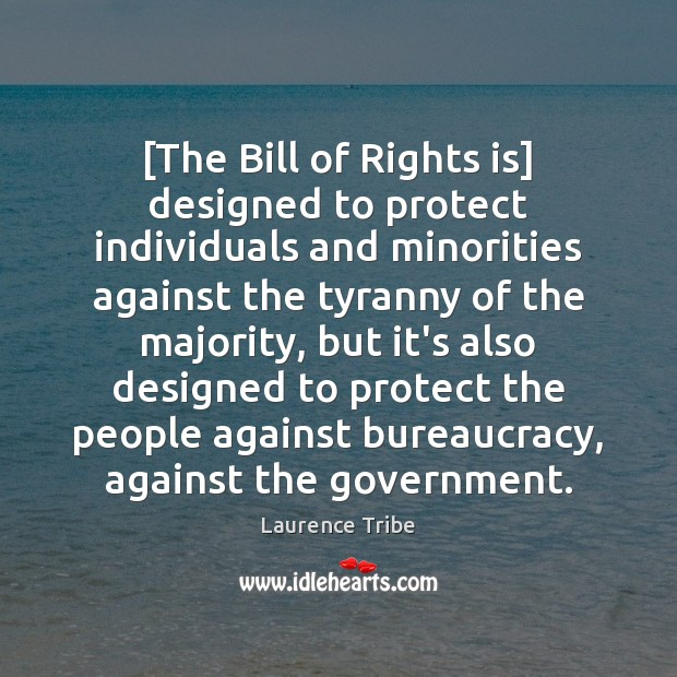 Image, [The Bill of Rights is] designed to protect individuals and minorities against