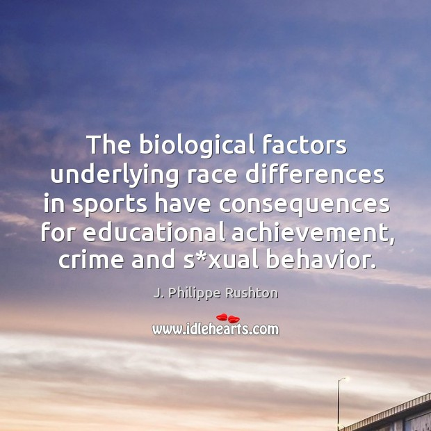 The biological factors underlying race differences in sports have consequences for educational achievement Image