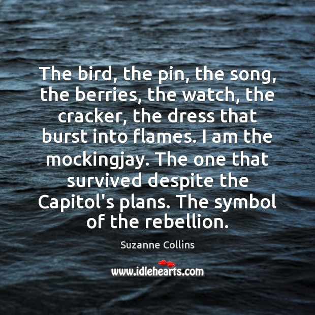 The bird, the pin, the song, the berries, the watch, the cracker, Image