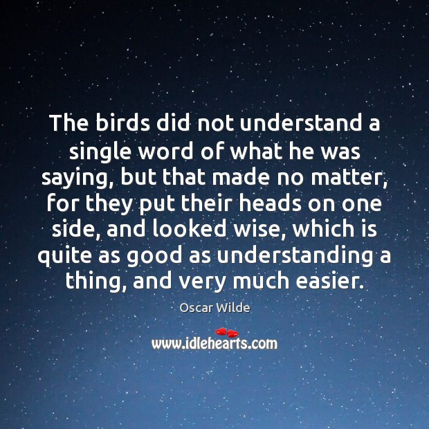Image, The birds did not understand a single word of what he was