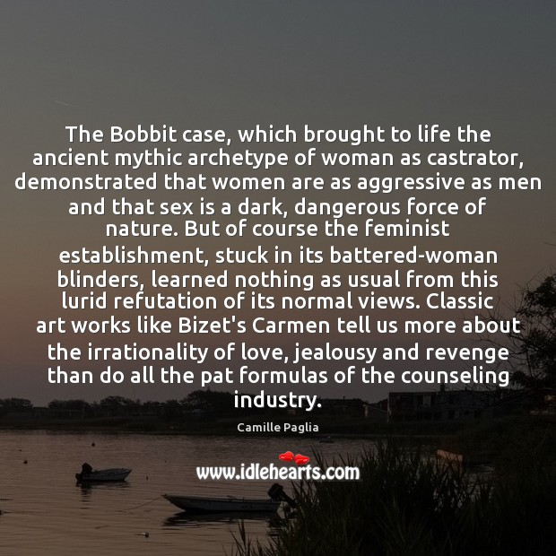 Image, The Bobbit case, which brought to life the ancient mythic archetype of