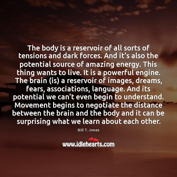 Image, The body is a reservoir of all sorts of tensions and dark