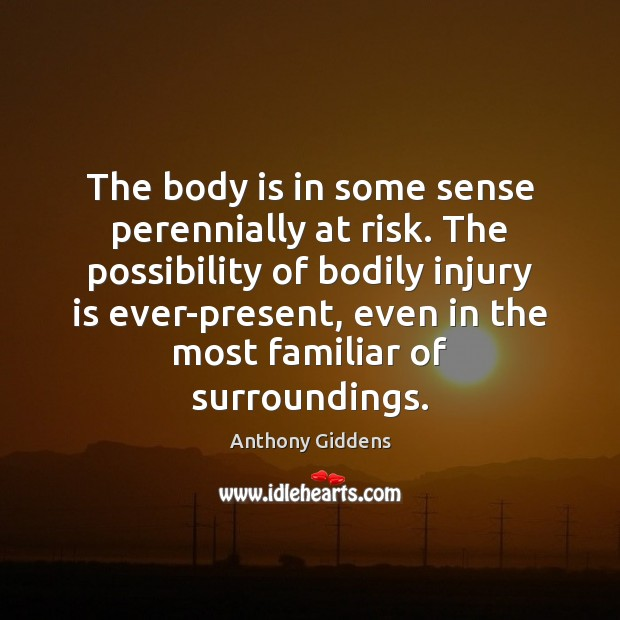The body is in some sense perennially at risk. The possibility of Image