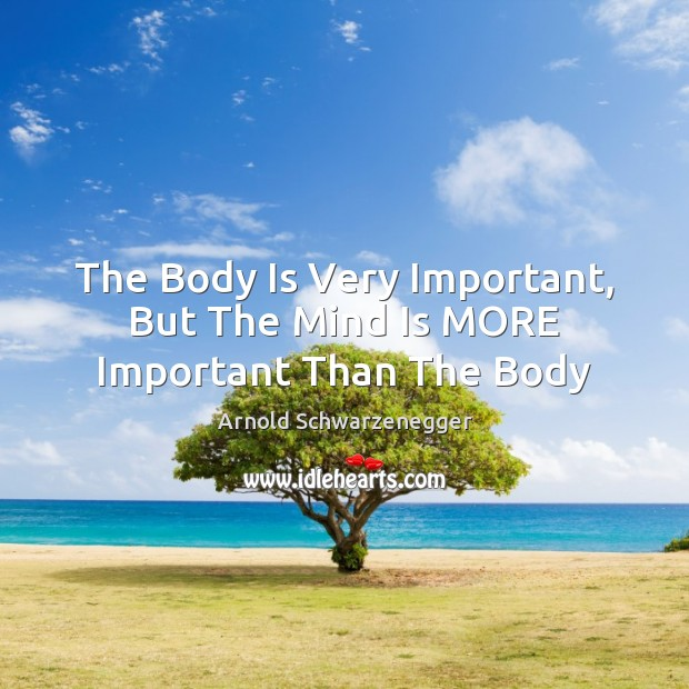The Body Is Very Important, But The Mind Is MORE Important Than The Body Image