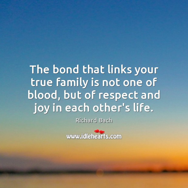 Image, The bond that links your true family is not one of blood,