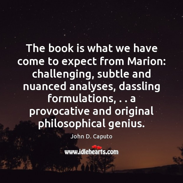 Image, The book is what we have come to expect from Marion: challenging,