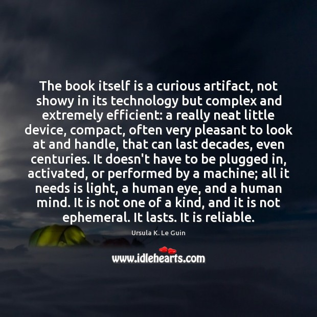 The book itself is a curious artifact, not showy in its technology Image