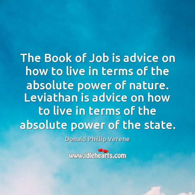 Image, The Book of Job is advice on how to live in terms