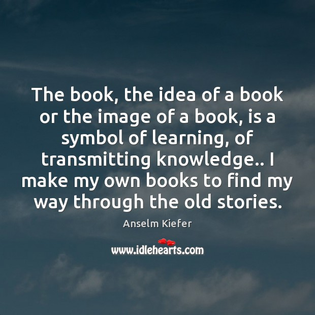 Image, The book, the idea of a book or the image of a