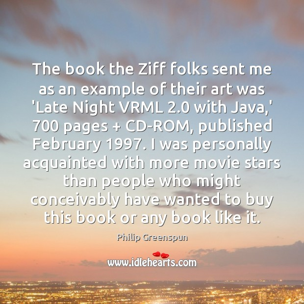 The book the Ziff folks sent me as an example of their Image