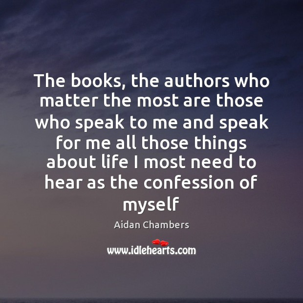 Image, The books, the authors who matter the most are those who speak