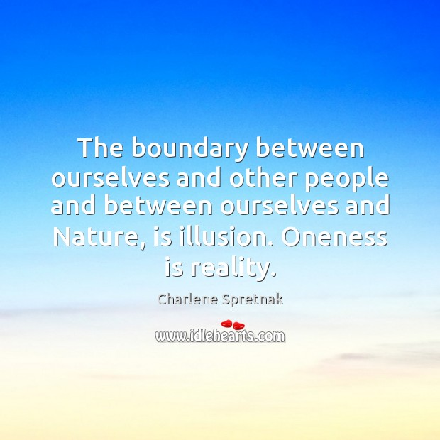 The boundary between ourselves and other people and between ourselves and Nature, Image