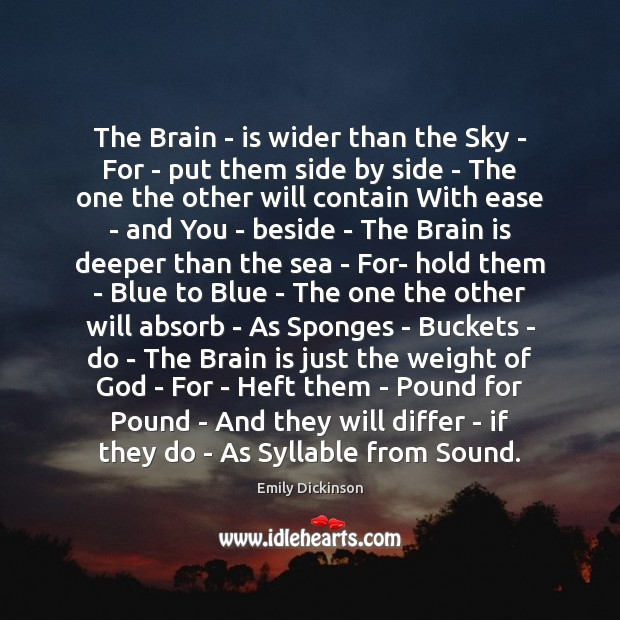 The Brain – is wider than the Sky – For – put Image