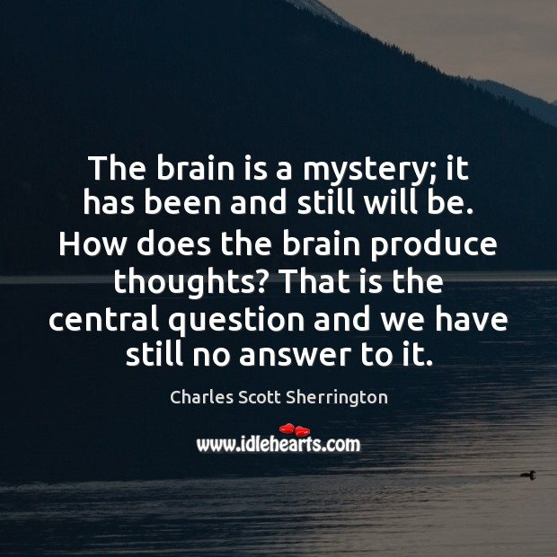 The brain is a mystery; it has been and still will be. Image