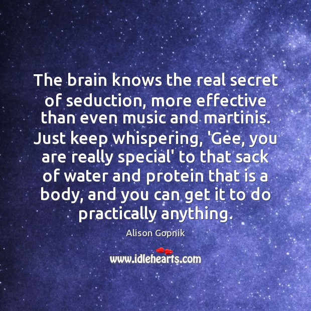 Image, The brain knows the real secret of seduction, more effective than even