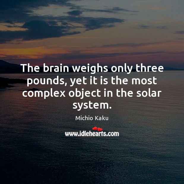 The brain weighs only three pounds, yet it is the most complex object in the solar system. Image