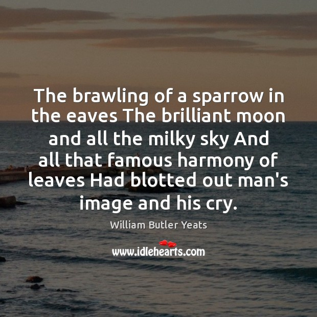 The brawling of a sparrow in the eaves The brilliant moon and Image