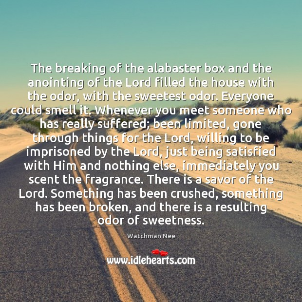 Image, The breaking of the alabaster box and the anointing of the Lord