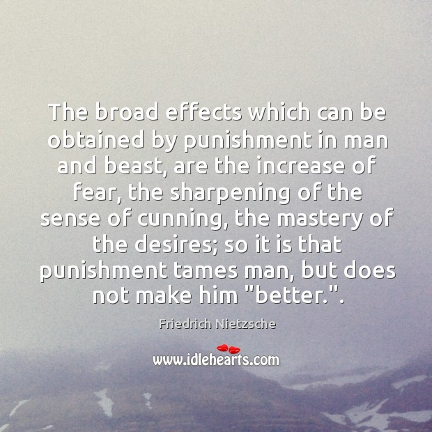 The broad effects which can be obtained by punishment in man and Image