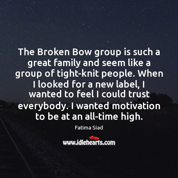 The Broken Bow group is such a great family and seem like Image