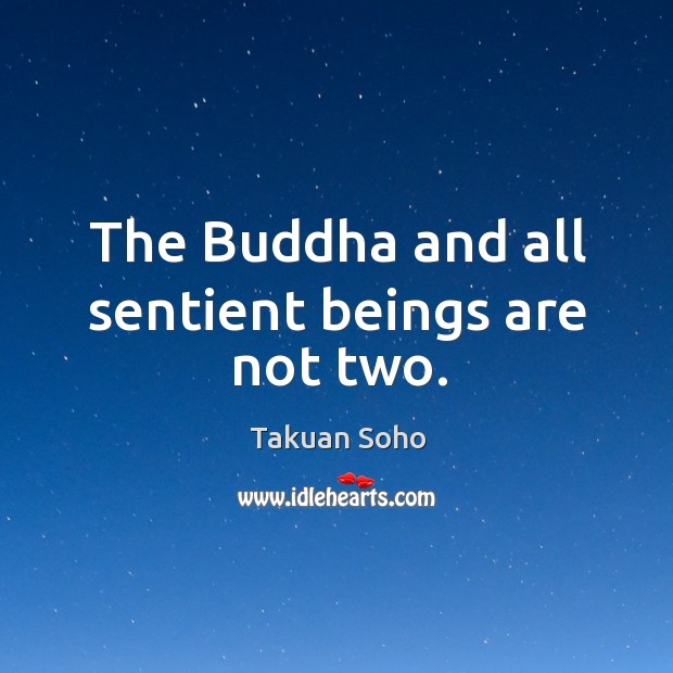 The Buddha and all sentient beings are not two. Image