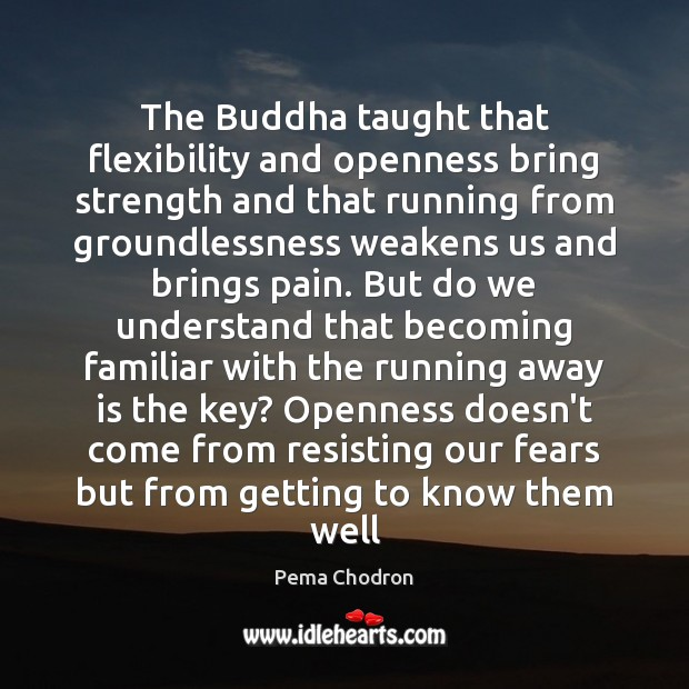 Image, The Buddha taught that flexibility and openness bring strength and that running