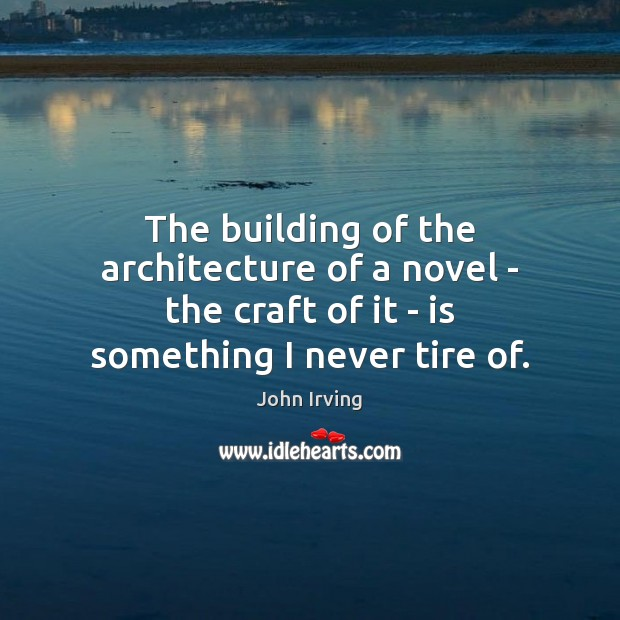 Image, The building of the architecture of a novel – the craft of
