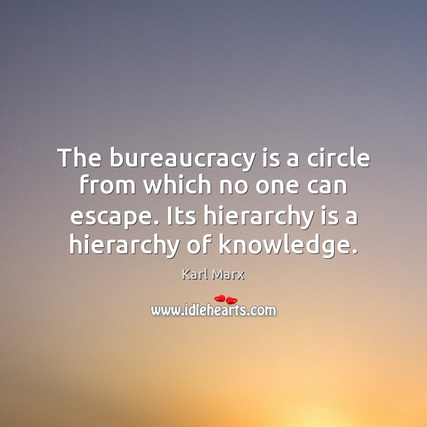 Image, The bureaucracy is a circle from which no one can escape. Its