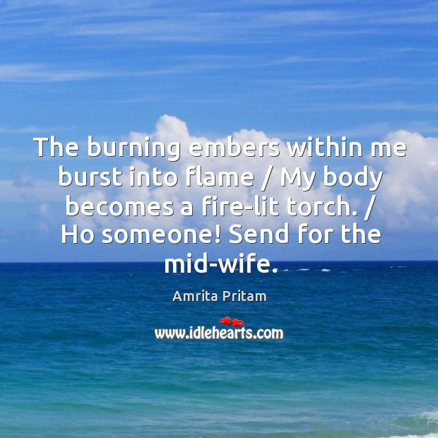 The burning embers within me burst into flame / My body becomes a Image