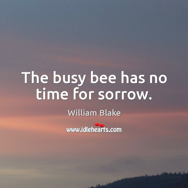 Image, The busy bee has no time for sorrow.