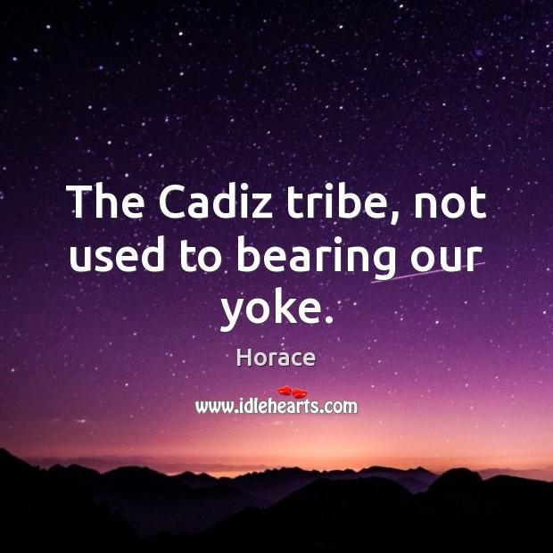 The Cadiz tribe, not used to bearing our yoke. Image