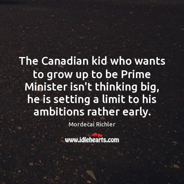 Image, The Canadian kid who wants to grow up to be Prime Minister
