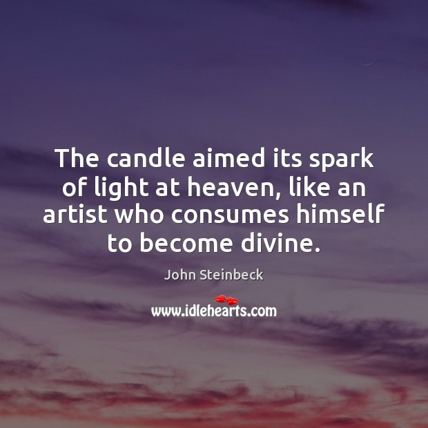 Image, The candle aimed its spark of light at heaven, like an artist