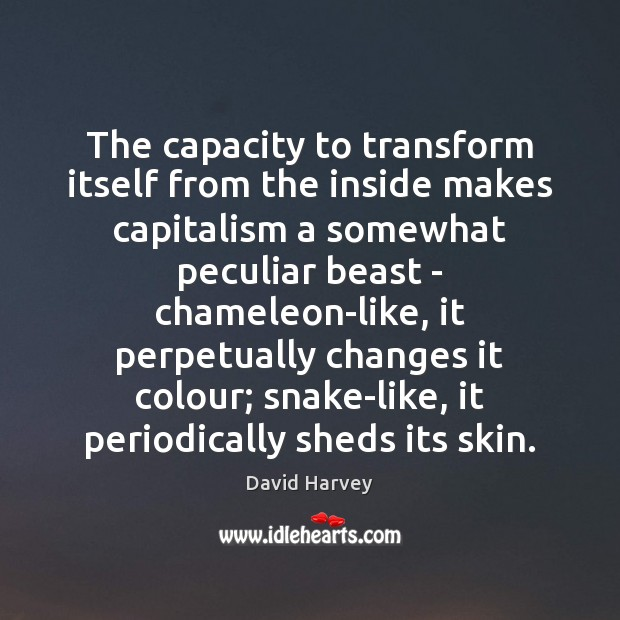 The capacity to transform itself from the inside makes capitalism a somewhat Image