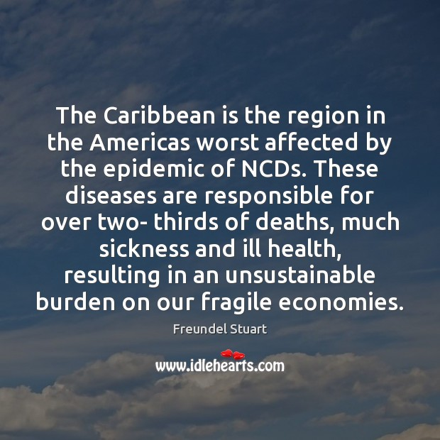 Image, The Caribbean is the region in the Americas worst affected by the
