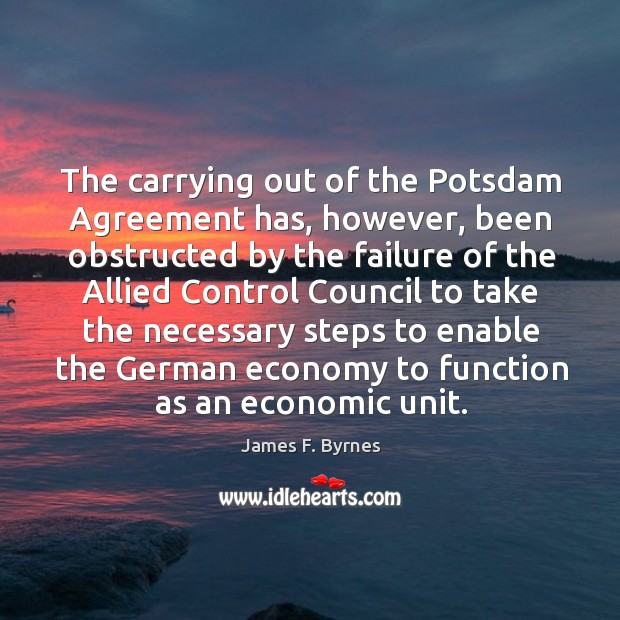 The carrying out of the potsdam agreement has, however Image
