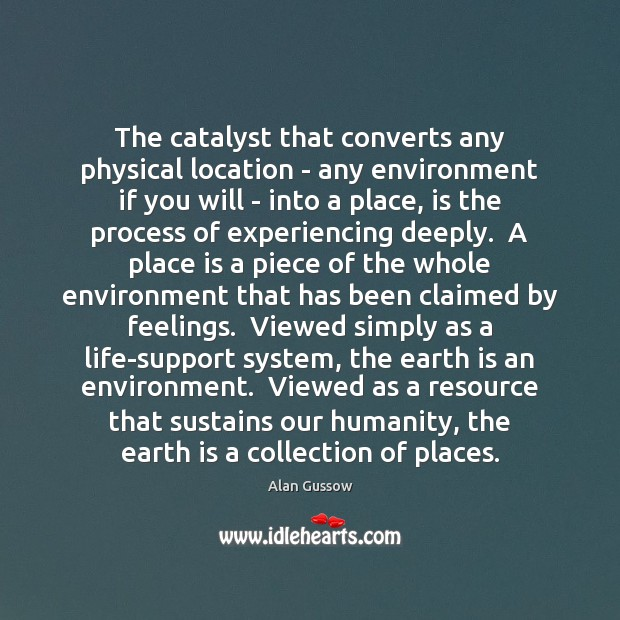 Image, The catalyst that converts any physical location – any environment if you