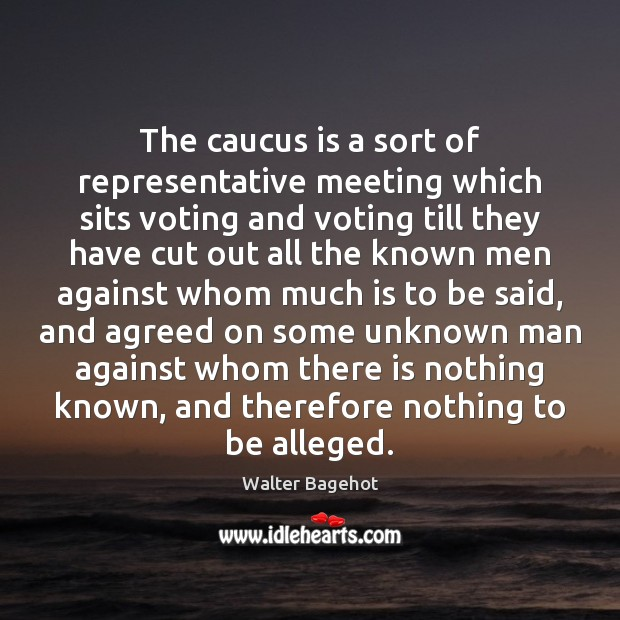 The caucus is a sort of representative meeting which sits voting and Vote Quotes Image