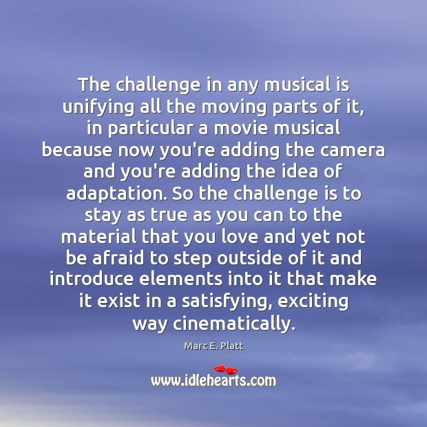 The challenge in any musical is unifying all the moving parts of Image