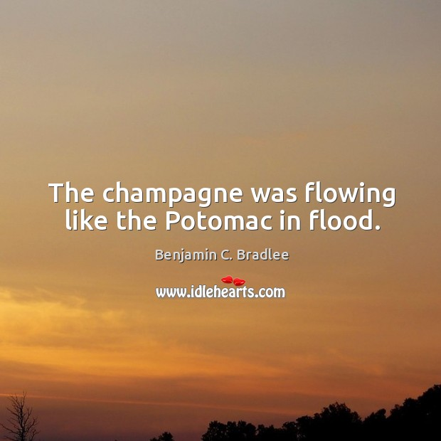 Image, The champagne was flowing like the potomac in flood.